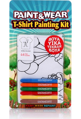 Paint&Wear Palyaço Boyama T-Shirt 4-6