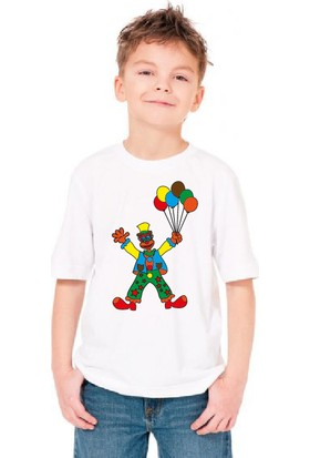 Paint&Wear Palyaço Boyama T-Shirt 7-8