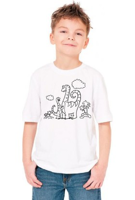 Paint&Wear Dinazor Ailesi Boyama T-Shirt 4-6