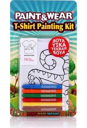 Paint&Wear Dinazor Ailesi Boyama T-Shirt 7-8