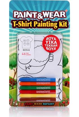 Paint&Wear Baykuş Boyama T-Shirt 4-6