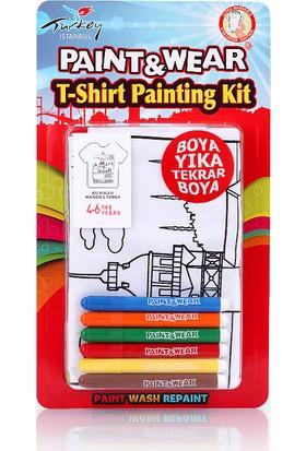 Paint&Wear Kız Kulesi Boyama T-Shirt 4-6