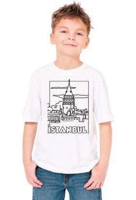 Paint&Wear Galata Kulesi Boyama T-Shirt 4-6