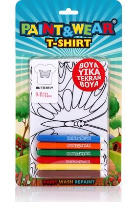 Paint&Wear Kelebek Boyama T-Shirt 9-11