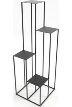 Deko Cadde Maranta Metal Saksılık/çiçeklik Raf ( 120 cm )