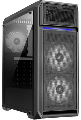 Zalman N5 Of ATX Mid Tower 3 Beyaz LED Fanlı 1 x Kulaklık, 1 x Mikrofon, 2 x USB 2.0, 1 x USB 3.0, Fan Kontrol, Renkli Akrilik Panel, PCI/AGP365 mm Bilgisayar Kasa