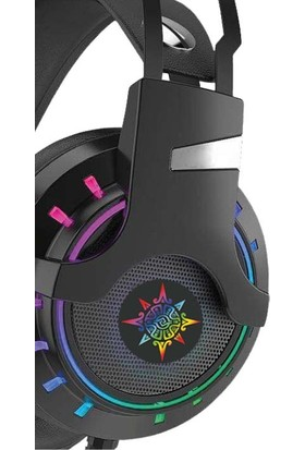 Inca IGK-TX12 Siyah 7,1 USB Surround Rgb Işık Efektli Gaming Oyuncu Mikrofonlu Kulaklık