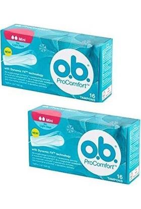 O.B. Procomfort Mini Tampon 16'lı x 2