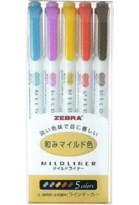 Zebra 5c-Hc Mıldlıner Fosforlu Kalem 5'li