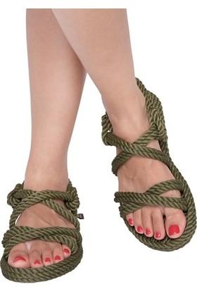 Nomadic Republic Tahiti Kadın Halat Sandalet - Haki