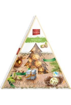 Favorina Noel Ağacı Şeklinde Fıstıklı Çikolatalı Trüf 148 gr