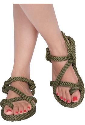 Nomadic Republic Capri Kadın Halat Sandalet - Haki
