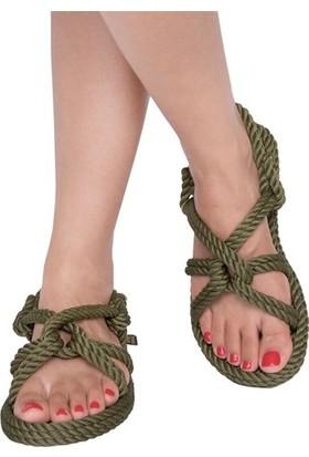 Nomadic Republic Bora Bora Kadın Halat Sandalet - Haki