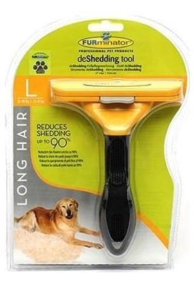 Furminator Uzun Tüylü Köpekler İçin Temizlenebilir Tarak Büyük 16 x 10 cm