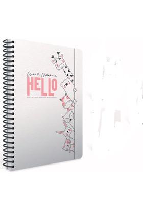 Gıpta White Notebook Spiralli Karton Kapak Defter A4 80 Yaprak