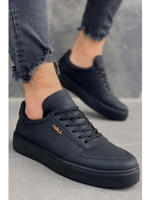 Knack Günlük Ayakkabı 011 Siyah (Siyah Taban) 40