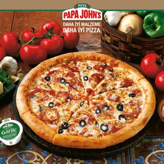 Papa John's Büyük Boy Karışık Papa Pizza