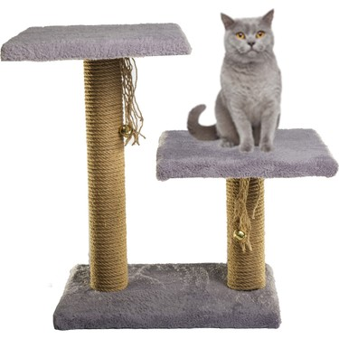 By Pet Step By Step İki Direkli Oturaklı Çıngıraklı Kedi Fiyatı