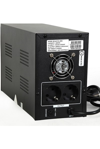 Powerful PL-2000 2000VA Line Interactive Ups Kesintisiz Güç Kaynağı