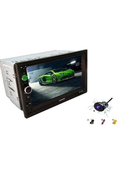 Dvnox 7 Inç Double Teyp Usb Sd Kart Bluetooth + Geri Görüş Kamerası