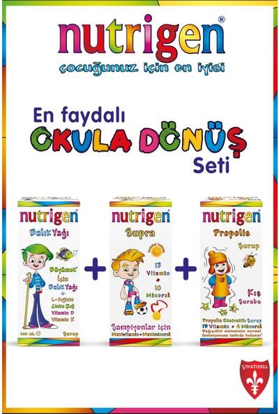 Nutrigen Tam Tedbir Paketi (Propolis + Balık + Supra) Nutrigen Puzzle Hediyeli