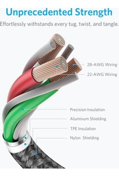 Anker PowerLine Select+ Apple Lightning 0.9m Naylon USB Kablo - Siyah - MFI Lisanslı - A8012
