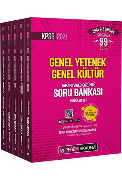 Pegem Akademi 2021 Kpss Genel Yetenek Genel Kültür Tamamı Video Çözümlü Soru Bankası Modüler Set - 5 Kitap