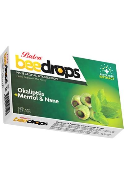 Balen Bitkisel Drops Boğaz Pastili 24 Drops Okaliptüs+Mentol ve Nane