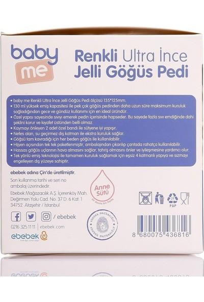Baby&Me Renkli Ultra Ince Jelli Göğüs Pedi 50'li