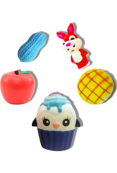 Play Seba 5 Adet Penguen Cupcake'li Midi Mix Squishy Seti