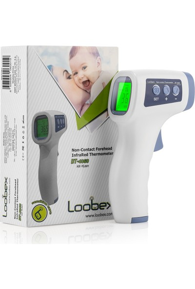 Loobex DT-4060 Vücut ve Alından Temassız Kızılötesi Ateş Ölçer(CE sertifikalı)