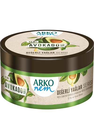 Arko Nem Değerli Yağlar Avokado Yağı El ve Vücut Kremi 2 x 250 ml