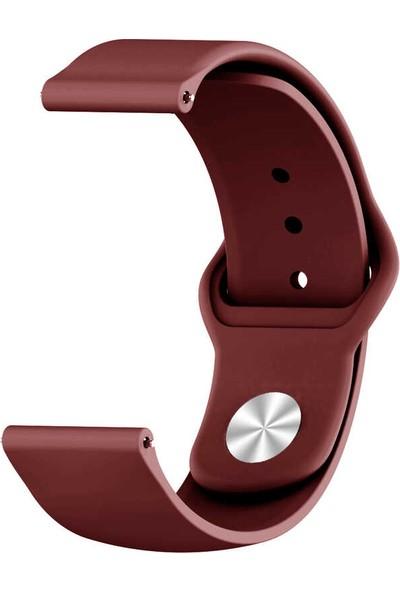 Fibaks Samsung Galaxy Gear S3 Krd-11 Akıllı Saat Kordonu Klasik Silikon Kordon Kayış Bileklik Mürdüm