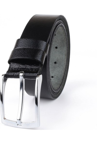 So-Cool %100 Hakiki Manda Derisi Kemer Kumaş Pantolon Kemeri 3.5 Cm Deri Kemer (Siyah-105)