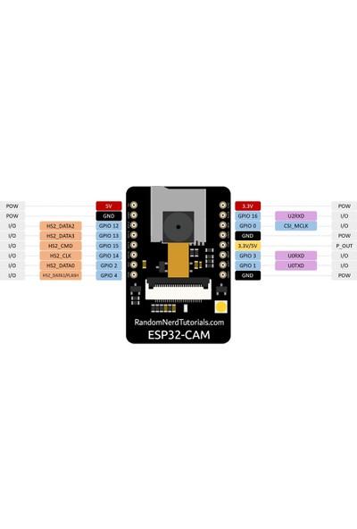 Alfa ESP32-CAM Wifi Bluetooth + OV2640 Kamera Modül