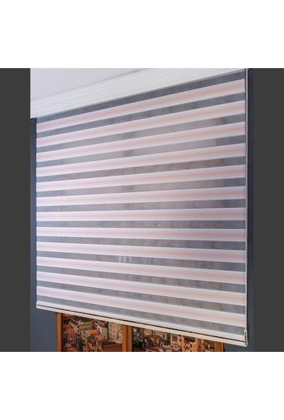 Aniper Zebra Perde Pudra Beyaz Renk Geçişli Perde 80x200 cm