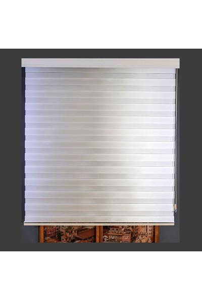 Anıper Zebra Perde Beyaz New Bamboo Stor 80X200 cm