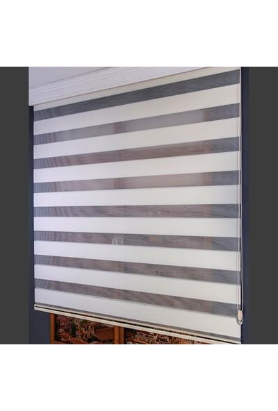 Anıper Zebra Perde Krem Mikro Plise Stor 70x200 cm