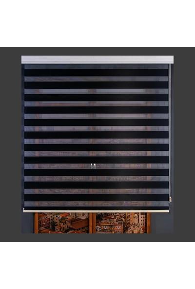 Aniper Zebra Perde Siyah Bamboo 80x200 cm