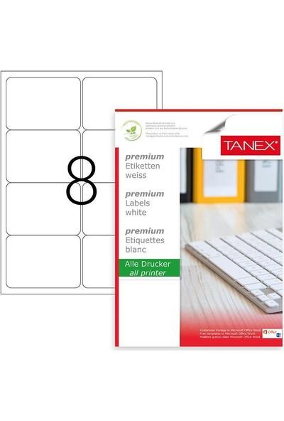 Tanex Lazer Etiket TW-2008 100 Yaprak 99.1 x 67.7 mm