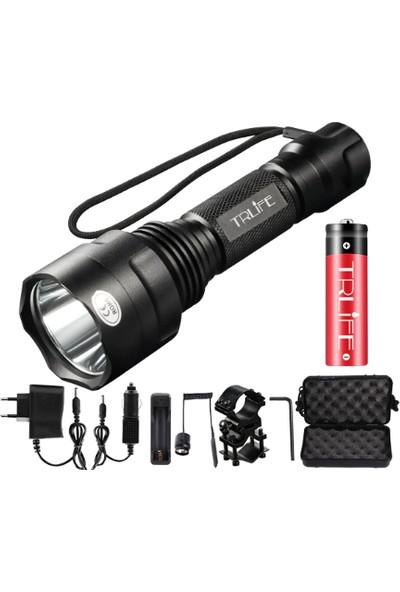 Schulzz Trlıfe LED El Feneri Ultra Güçlü 10000 Lümen Gece Görüş L2 Flaş