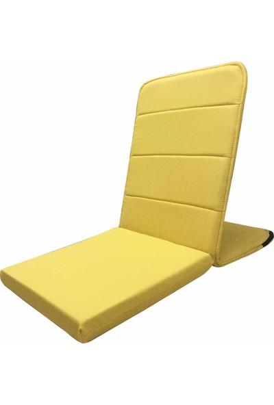 Zunkla Kapitoneli Destekli Yer Minderi - Kapitoneli Meditasyon Sandalyesi
