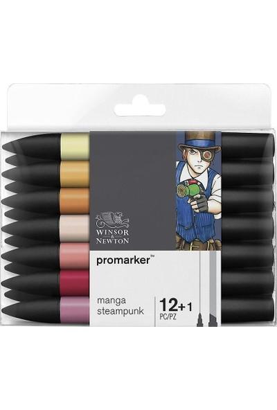 Winsor & Newton Promarker 12+1 Manga Steampunk Seti