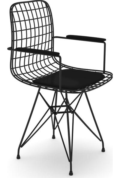 Knsz Kafes Tel Sandalyesi 1 Li Mazlum Syhsyh Kolçaklı Ofis Cafe Bahçe Mutfak