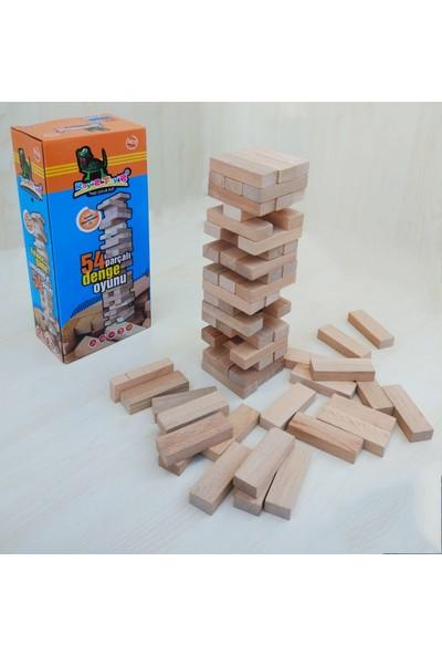 Doğal Toys 54 Parça Ahşap Denge Oyunu