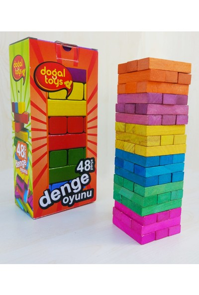 Doğal Toys 48 Parça Renkli Denge Oyunu