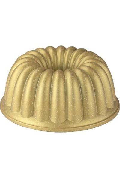 Taç Dilim Döküm Kek Kalıbı Gold - 6585