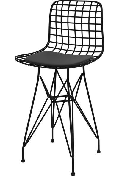 Knsz Ufak Boy Tel Bar Sandalyesi 1 Li Uslu Syhsyh 55 Cm Oturma Yüksekliği Mutfak Bahçe Cafe Ofis