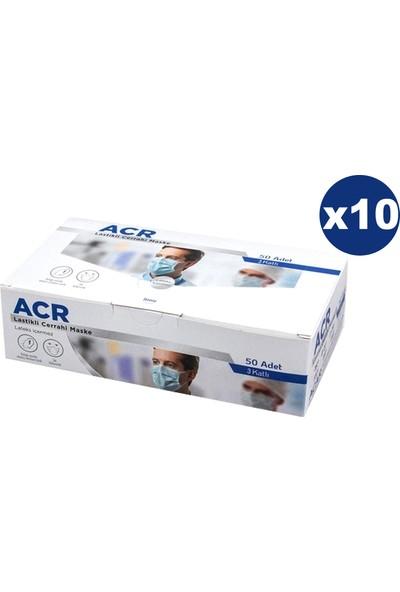 Acr 3 Katlı Telli ve Full Ultrasonik Cerrahi Maske 500 Adet