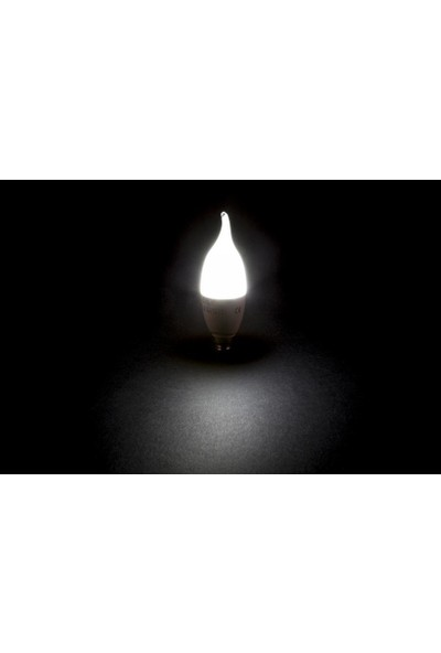 Cata 5'li 4084 8W LED Kıvrık Uçlu Buji Ampul E14 Duy Günışığı